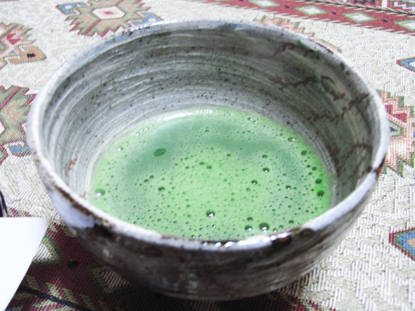 Powdered green tea.
