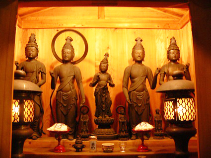 Buddhist statues from top of Mt. Fuji ( by Noriko. N )